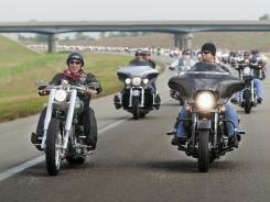 Kansas City radio host Johnny Dare, right, participates in the March of Dimes' Kansas City Bikers for Babies Ride in 2009. Dare has served as an honorary chairman of the ride since its beginning in 1995.