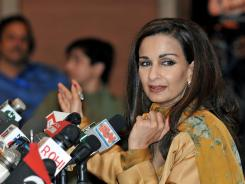 Sherry Rehman, new ambassador to the U.S., seen in her role as Pakistani information minister April 11, 2008.