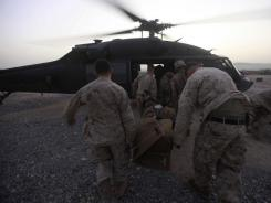 U.S Marines on duty in Afghanistan's Helmand Province in Sept.