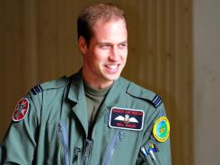 Prince William, shown in April, participated in a rescue mission.