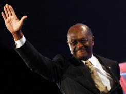 Republican presidential candidate Herman Cain at the Nov. 22 debate at Constitution Hall in Washington, D.C.