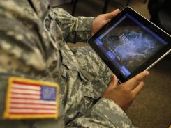 A program for tablet computers and smartphones helps calm symptoms of post-traumatic stress. More and more combat veterans with the disorder are flooding VAs hospitals.