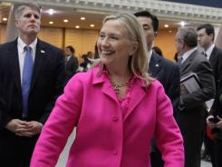 Hillary Rodham Clinton arrives Wednesday in the capital of Nay Pyi Taw on the first trip by a U.S. secretary of State to Burma in more than 50 years.
