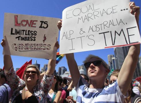 Australias ruling party endorses gay marriage HGLR94T x large gay marriage in Australia,