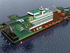 Here is a rendering of a ship that start-up Blueseed is planning that could accommodate 1,000 people off California's shore so occupants could hop a quick ferry ride to meet with tech employers and investors.