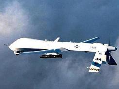 This 2001 file photo obtained shows an unmanned predator aerial vehicle with a hellfire missile attached.