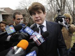 Rod Blagojevich heads to federal court for his sentencing hearing in Chicago on Tuesday. His lawyers say the prison term requested by prosecutors is too severe.
