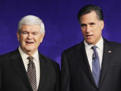 At inauguration 2013:  Newt Gingrich will be 69 and Mitt Romney 65.