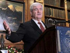 Former House speaker Newt Gingrich is ahead of other Republican presidential hopefuls in a new Gallup Poll.