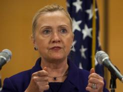 Secretary of State Hillary Rodham Clinton said the online embassy for Iran aims to increase communication.
