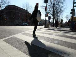 Pedestrian deaths rose sharply last year.