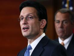 House Majority Leader Eric Cantor of Virginia speaks at a news conference on Dec. 2.