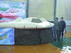 Iran's Revolutionary Guards claim this is a downed American RQ-170 Sentinel on display at an undisclosed location.