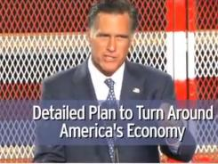 A screengrab from Mitt Romney's latest ad in his run for the Republican presidential nomination.