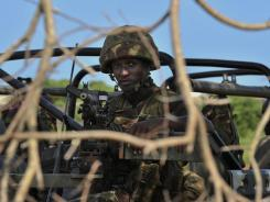 A Kenyan Defense Force soldier in southern Somalia on Tuesday.