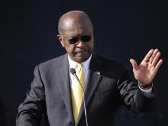 Herman Cain announces he is suspending his campaign earlier this month.
