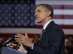 President Obama speaks about the economy at Osawatomie High School in Osawatomie, Kan., on Dec. 6.