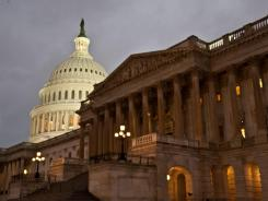 Members of Congress met Thursday at the U.S. Capitol to reach a deal to avert a government shutdown.