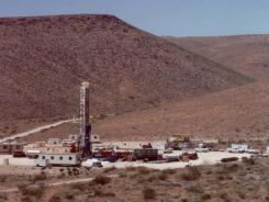 This June 10, 1992, handout file photo shows the Yucca Mountain Nuclear Waste Dump in Mercury, Nev.