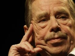 In this Oct. 15, 2009, file photo, former Czech President Vaclav Havel is seen during a press conference in Prague marking the 20th anniversary of the changes in Czechoslovakia and the fall of the Iron Curtain. He died Sunday at age 75.