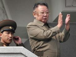 North Korean leader Kim Jong Il applauds after a parade Oct. 10 to mark the 65th anniversary of the communist nation's ruling Workers' Party in Pyongyang.