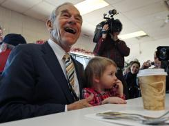 Rep. Ron Paul, R-Texas, received 21.7% of potential caucusgoers, according to an average of three recent polls compiled by the website Real Clear Politics.