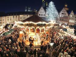Crowds gather at the traditional Christmas Market of Frankfurt, Germany. A new study finds there are now more Protestants in Nigeria than in Germany where Protestantism began.