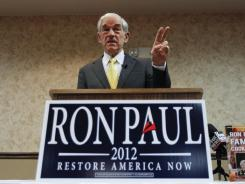 Republican presidential candidate, Rep. Ron Paul, R-Texas, speaks during a campaign stop in Fort Madison, Iowa, on Wednesday.