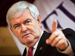 Republican presidential candidate Newt Gingrich speaks to supporters on Friday in Columbia, S.C.