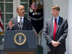 President Obama has stood by the nomination of Richard Cordray, right, to head the new Consumer Financial Protection Bureau.