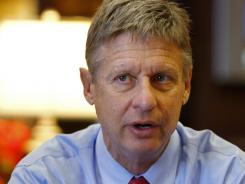 Former New Mexico governor Gary Johnson is interviewed on Dec. 12.