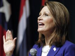 Minnesota Rep. Michele Bachmann speaks during a campaign stop in Des Moines on Dec. 29.