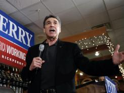 Texas Gov. Rick Perry speaks during a campaign stop in Cedar Rapids, Iowa, on Dec. 29.