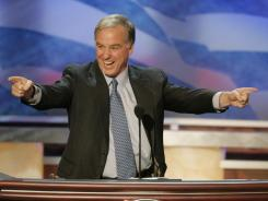 Howard dean addresses the 2004 Democratic National Convention in Boston.