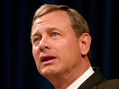 U.S. Supreme Court Chief Justice John Roberts speaks during a lecture series at Canisius College in Buffalo, N.Y., on Oct. 19, 2010.