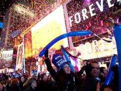 New Year's Eve celebrations: Here comes 2012! Revellers in Times Square prep ...