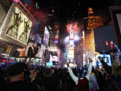 A view of Times Square during New Year's Eve 2012 in New York City.