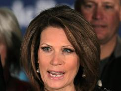 Rep. Michele Bachmann, R-Minn., announces the end of her presidential campaign Wednesday.