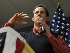 Former senator Rick Santorum has focused on controversial social issues.