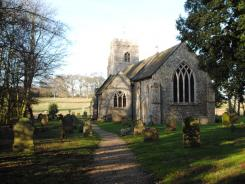 Anmer Church, near where a woman's body was found on the Queen's Sandringham estate, Norfolk, England.