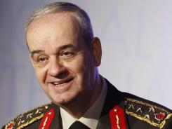 In this 2010 file photo, Turkey's former Chief of Staff Gen. Ilker Basbug speaks during the International Symposium on Global Terrorism and International Cooperation in Ankara.