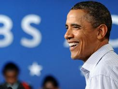 President Obama speaks at Greensville County High School in Emporia, Va., on Oct. 18 during the second day of his three-day American Jobs Act bus tour.