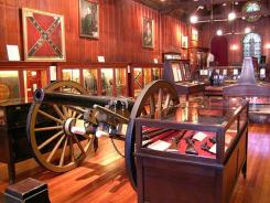 Interior displays in Louisiana's Civil War Museum in New Orleans.