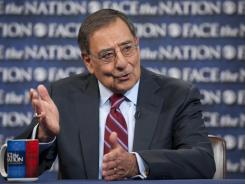 "U.S. Secretary of Defense Leon Panetta speaks on CBS's ""Face the Nation"" in Washington on Sunday."