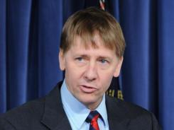 New chief : Richard Cordray at the Consumer Financial Protection Bureau on Friday.