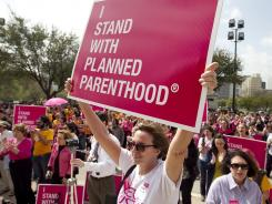 This Planned Parenthood rally at the Capitol in Austin, Texas, last March came after passage of a tough abortion measure.