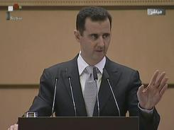 Syrian President Bashar Assad says on Tuesday that foreign parties are trying to destabilize Syria.