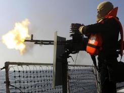 Strait of Hormuz:  Iranian navy conducts war games on Jan. 1.
