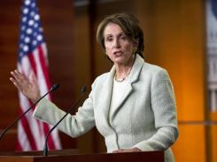 Minority Leader Nancy Pelosi, D-Calif., has tried to encourage more women to run for congressional office.