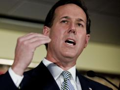 Republican presidential candidate Rick Santorum wound up with a 34-vote advantage in the Iowa caucuses.